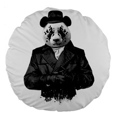 Rorschach Panda Large 18  Premium Flano Round Cushions by jumpercat