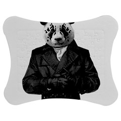 Rorschach Panda Jigsaw Puzzle Photo Stand (bow) by jumpercat