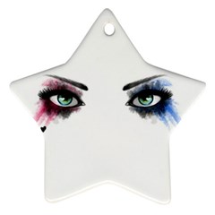 Look Of Madness Star Ornament (two Sides) by jumpercat