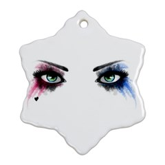 Look Of Madness Snowflake Ornament (two Sides) by jumpercat