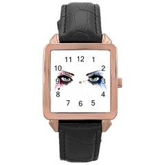 Look Of Madness Rose Gold Leather Watch  by jumpercat