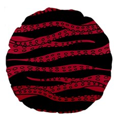 Blood Tentacles Large 18  Premium Round Cushions by jumpercat