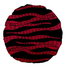 Blood Tentacles Large 18  Premium Flano Round Cushions by jumpercat