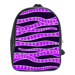 Purple Tentacles School Bag (large)