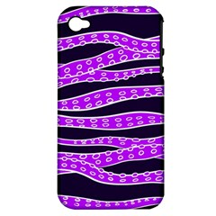 Purple Tentacles Apple Iphone 4/4s Hardshell Case (pc+silicone)