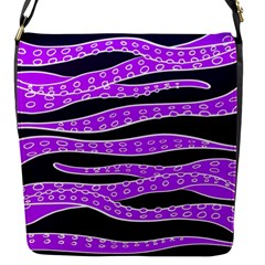 Purple Tentacles Flap Messenger Bag (s) by jumpercat