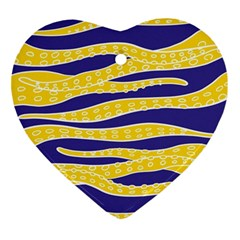 Yellow Tentacles Ornament (heart)