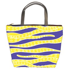 Yellow Tentacles Bucket Bags by jumpercat