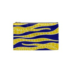 Yellow Tentacles Cosmetic Bag (small)  by jumpercat