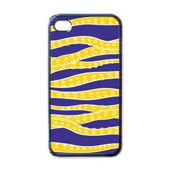 Yellow Tentacles Apple Iphone 4 Case (black) by jumpercat