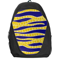 Yellow Tentacles Backpack Bag by jumpercat