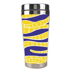 Yellow Tentacles Stainless Steel Travel Tumblers by jumpercat