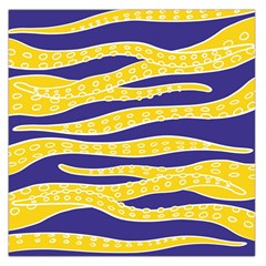 Yellow Tentacles Large Satin Scarf (square)