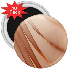Background Light Glow Abstract Art 3  Magnets (10 Pack)  by Nexatart