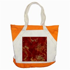 Marble Red Yellow Background Accent Tote Bag