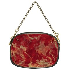 Marble Red Yellow Background Chain Purses (one Side)  by Nexatart