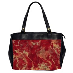 Marble Red Yellow Background Office Handbags (2 Sides)