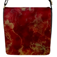 Marble Red Yellow Background Flap Messenger Bag (s)
