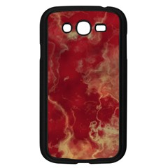 Marble Red Yellow Background Samsung Galaxy Grand Duos I9082 Case (black)