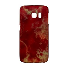 Marble Red Yellow Background Galaxy S6 Edge by Nexatart