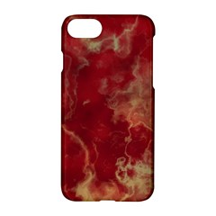 Marble Red Yellow Background Apple Iphone 7 Hardshell Case by Nexatart