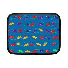Fish Blue Background Pattern Texture Netbook Case (small)
