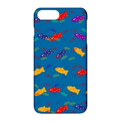 Fish Blue Background Pattern Texture Apple Iphone 8 Plus Hardshell Case