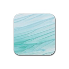 Texture Seawall Ink Wall Painting Rubber Square Coaster (4 Pack)
