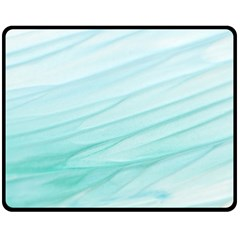 Texture Seawall Ink Wall Painting Fleece Blanket (medium)  by Nexatart