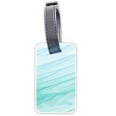 Texture Seawall Ink Wall Painting Luggage Tags (one Side)  by Nexatart