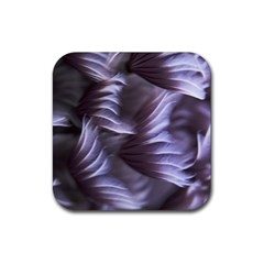 Sea Worm Under Water Abstract Rubber Square Coaster (4 Pack)