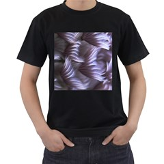 Sea Worm Under Water Abstract Men s T Shirt (black) (two Sided)