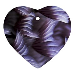 Sea Worm Under Water Abstract Heart Ornament (two Sides) by Nexatart