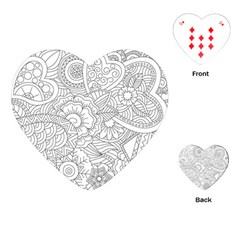 Ornament Vector Retro Playing Cards (heart)