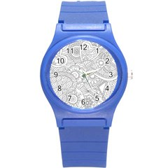 Ornament Vector Retro Round Plastic Sport Watch (s)