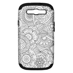 Ornament Vector Retro Samsung Galaxy S Iii Hardshell Case (pc+silicone) by Nexatart