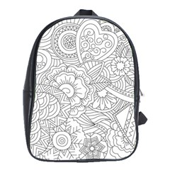 Ornament Vector Retro School Bag (xl)