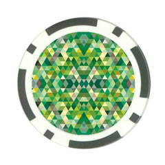 Forest Abstract Geometry Background Poker Chip Card Guard (10 Pack)