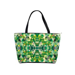 Forest Abstract Geometry Background Shoulder Handbags