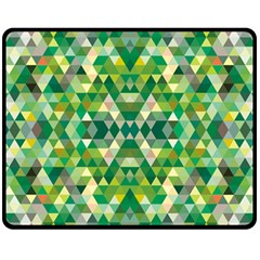 Forest Abstract Geometry Background Fleece Blanket (medium)  by Nexatart