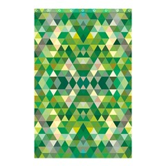 Forest Abstract Geometry Background Shower Curtain 48  X 72  (small)  by Nexatart