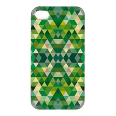 Forest Abstract Geometry Background Apple Iphone 4/4s Premium Hardshell Case