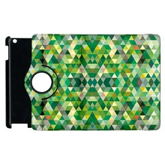 Forest Abstract Geometry Background Apple Ipad 3/4 Flip 360 Case by Nexatart