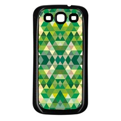 Forest Abstract Geometry Background Samsung Galaxy S3 Back Case (black) by Nexatart