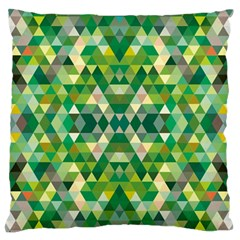 Forest Abstract Geometry Background Large Flano Cushion Case (two Sides) by Nexatart