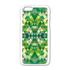 Forest Abstract Geometry Background Apple Iphone 6/6s White Enamel Case by Nexatart