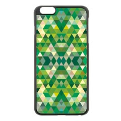 Forest Abstract Geometry Background Apple Iphone 6 Plus/6s Plus Black Enamel Case by Nexatart