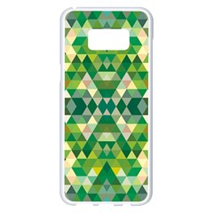 Forest Abstract Geometry Background Samsung Galaxy S8 Plus White Seamless Case