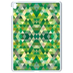 Forest Abstract Geometry Background Apple Ipad Pro 9 7   White Seamless Case by Nexatart