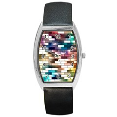 Background Wall Art Abstract Barrel Style Metal Watch